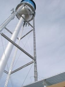 watertower - skyline tower painting